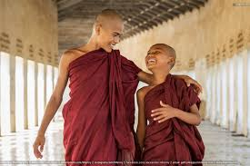 happy novice monks together bagan myanmar mlenny photography