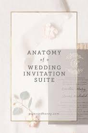 Wedding Invitation Information Card Paper U0026 Honeyanatomy Of A Wedding Invitation Suite Paper U0026 Honey