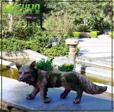 animaux resine jardin permanent des animaux résine fleur renard vase buy product on