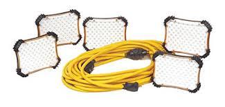 110v led work light led temporary work light string 50 ft 450 led 110v 33w