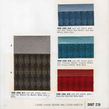 the 1970 hamtramck registry 1965 dodge color u0026 trim book dart