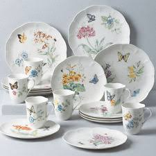 lenox butterfly meadow 18pc dinnerware set ebay