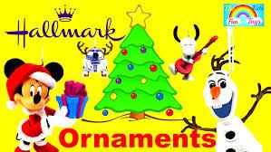 hallmark ornaments collection starwars frozen peanut