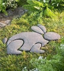 rabbit garden decorative stones rabbit garden accent wind weather