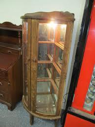 lighted curio cabinet oak antique oak curio cabinet antique furniture
