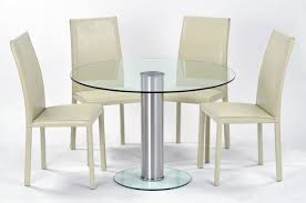 furniture round glass top dining table with round base added by
