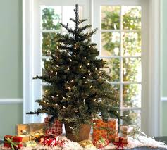 tree decorating ideas live tabletop with decorations