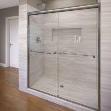 celesta shower doors sterling finesse 59 5 8 in x 55 1 2 in frameless sliding shower