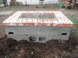 how to build an outdoor fireplace with cinder blocks binhminh