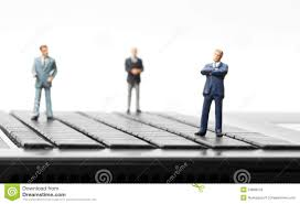 miniature figurines of businessman royalty free stock photos