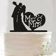wedding cake top heart mr mrs wedding cake topper wedding decoration