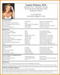 Audition Resume Sample Audition Resume Free Excel Templates Dance Template 52841 X Saneme