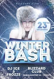 download winter bash free flyer template for photoshop
