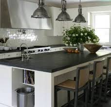 Large Kitchen Island With Sink Kitchen Island Countertop Black Soapstone With Undermount Sink And