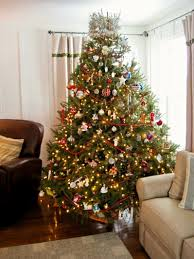 Home Decoration Wholesale Christmas Decoration Living Room With Tree Set Yellow Lights White