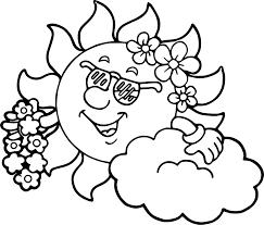 hawaiian sun coloring page wecoloringpage