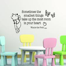 winnie the pooh sometimes the smallest things take up the most winnie the pooh sometimes the smallest things take up the most room in your heart children s bedroom kids room playroom baby nursery wall sticker wall art