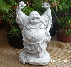 enigma up laughing buddha garden ornament woodside garden