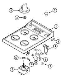 Jennaire Cooktop Parts For Jenn Air C206 C Cooktop Appliancepartspros Com