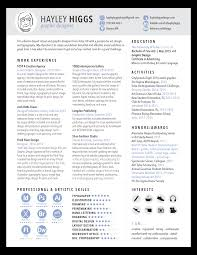 Resume Francais Resume U2014 Hayley Higgs