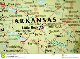 State Of Arkansas Map Map Of Little Rock Arkansas Royalty Free Stock Photos Image 5033608
