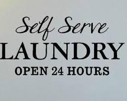 Laundry Room Hours - self serve laundry etsy