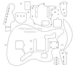fender u002762 jaguar blueprint routing template guitar reverb