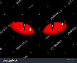 red dangerous vector eps10 cat eyes stock vector 59728786