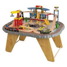 kidkraft transportation station train set and table toys
