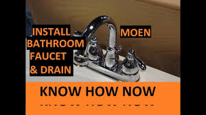 install moen bathroom sink faucet and drain youtube