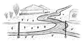 sketch of a park stock illustration image of outdoors 55943874