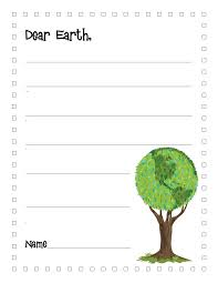 kindergarten printable writing paper literacy minute earth day writing paper and bookmark earth day writing paper and bookmark