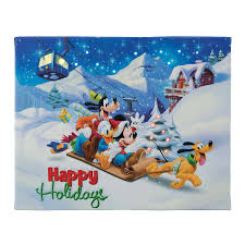mr christmas mr christmas 11044 happy holidays 4x6 disney illuminart with easel
