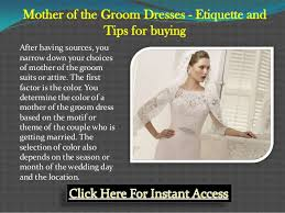 mother of the groom dresses etiquette and tips for buying