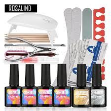 aliexpress com buy rosalind uv gel kit soak off gel polish gel