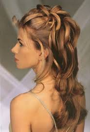 retro updo hairstyles with headband for long hair