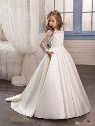 kids wedding dresses in stock ivory flower dresses 2017 with sleeves and