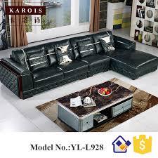 canapé allemagne allemagne salon canapé en cuir avec en bois courbe poltrona par