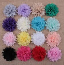flowers for headbands purple large chiffon flowers 4 inch wedding chiffon petal
