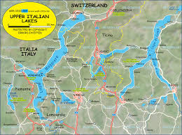 Best 10 Map Of Italy by Map Of North Italian Lakes Upper Italian Lakes Italy Switzerland