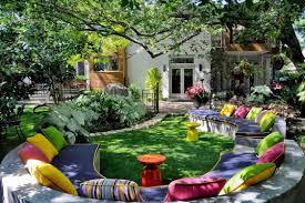 exterior exquisite colorful outdoor living spaces decoration