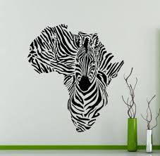 Fabric Wall Murals by Africa Map Silhouette Creative Special Zebra Wall Mural Cool
