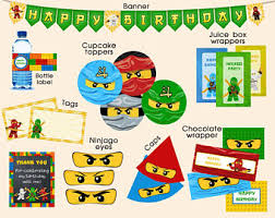 ninjago party supplies ninjago party favors etsy