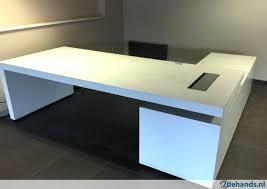 bureau en l luxe bureau hoekmodel wit gelakt 2e te koop tweedehands nl