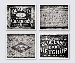 black and white prints for kitchen black and white rustic country kitchen decor set of 4 prints not framed vintage crate pictures for farmhouse wall 5x7 8x10 11x14 or 16x20
