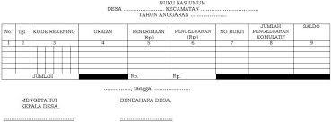 format buku jurnal penerimaan kas pengelolaan keuangan desa sistem dan prosedur penatausahaan