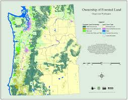 map of oregon and washington maps pnw research station usda forest service