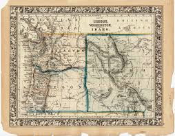 Pony Express Route Map by Between The Lines Washington Territory