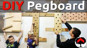 how to build an adjustable climbing peg board and cliffhanger or