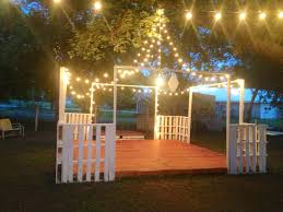 diy outdoor wedding lights